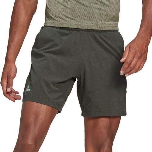 adidas Ergo 7 inch Short Mens Legend Earth/Green Tint FT6121