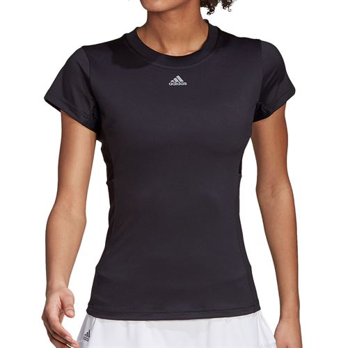 adidas Freelift Tennis T-Shirt Womens Black/Grey FT6393