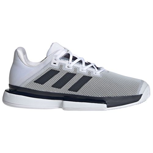 adidas Solematch Bounce Hard Court Shoes White/Navy