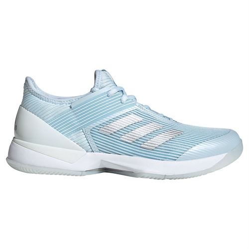 adidas Adizero Ubersonic Womens Tennis Shoe Sky Tint/Silver Metallic/White FU8149