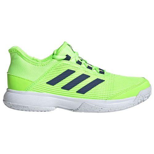 adidas Adizero Club Junior Tennis Shoes Signal Green/White/Tech Indigo FV4134