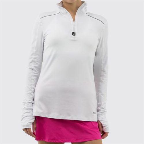 Fila Half Zip Jacket Womens White FW811752 100