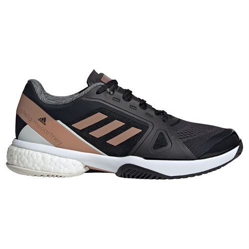 adidas Stella McCartney Womens Tennis Shoe Core Black/Copper Metallic/Orbit Grey FW9883