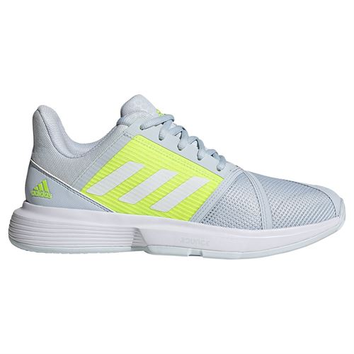 adidas CourtJam Bounce Womens Tennis Shoe Halo Blue/White/Solar Yellow FX1524