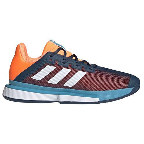 adidas SoleMatch Bounce Mens Tennis Shoe Crew Navy/White/Screaming Orange FX1733