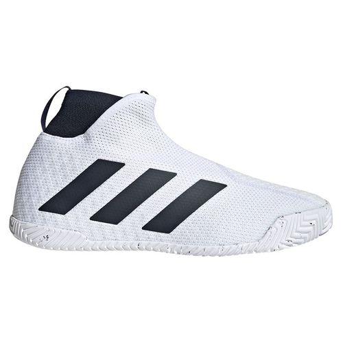 adidas Stycon Laceless Mens Tennis Shoe - White/Legend Ink
