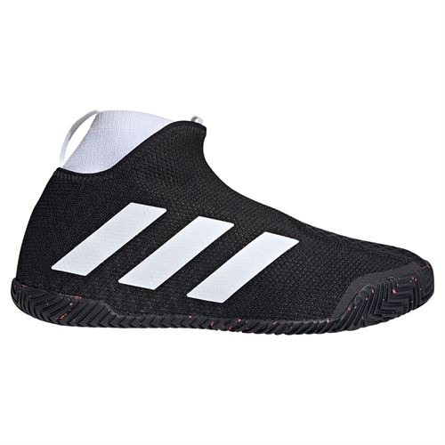 adidas Stycon Mens Tennis Shoe Core Black/White/Signal Pink FY2944