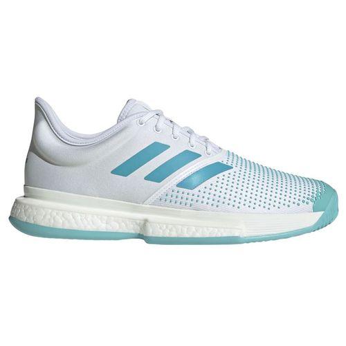 the latest 4f28e e9fda adidas Sole Court Boost Parley Mens Tennis Shoe - WhiteVapour BlueBlue  Spirit