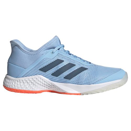 adidas adizero Club Womens Tennis Shoe - Glow Blue/Tech Ink/Hi Res Coral