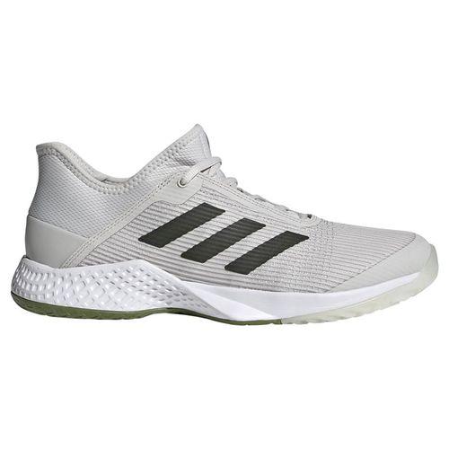 adidas adizero Club Mens Tennis Shoe - Grey One/Legend Earth/Tech Olive