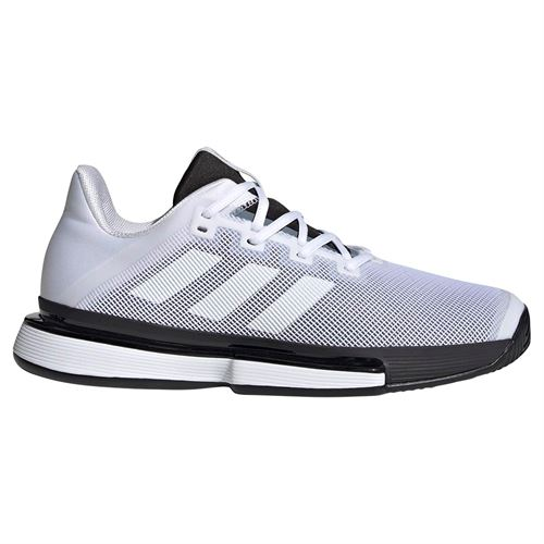 adidas Sole Match Bounce Mens Tennis Shoe - White/Black