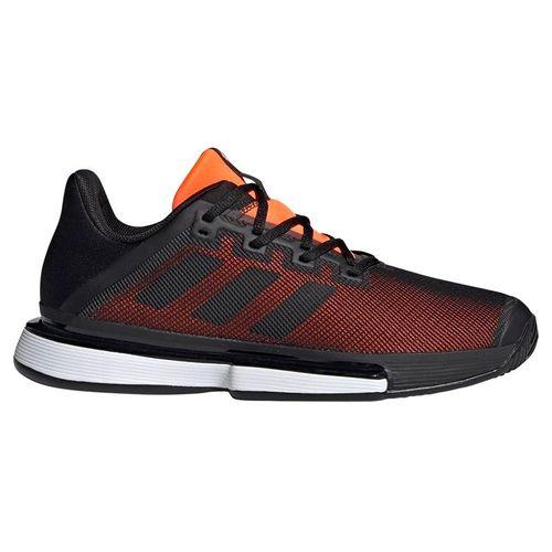 adidas Sole Match Bounce Mens Tennis Shoe - Black/Orange