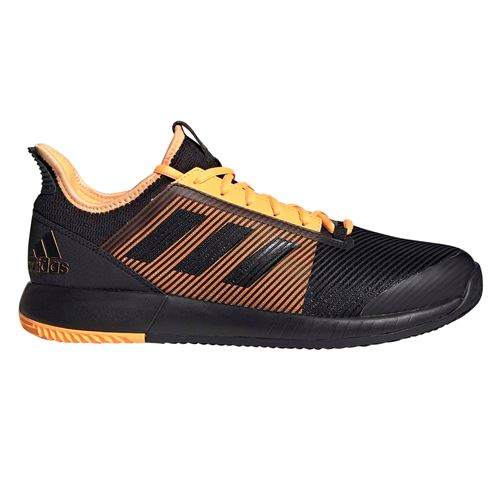 adidas adizero Defiant Bounce 2 Mens Tennis Shoe - Core Black/Flash Orange