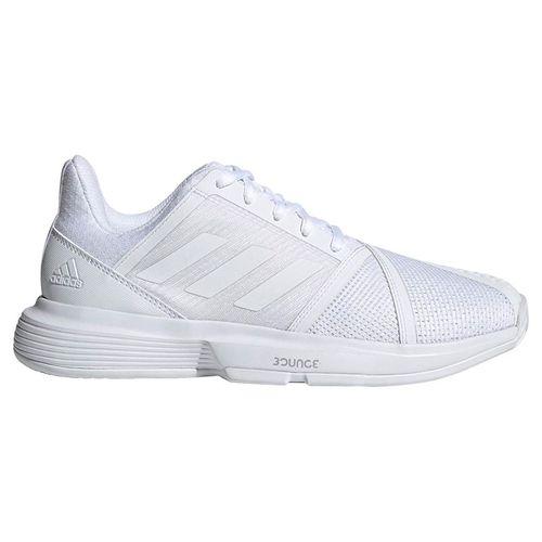 adidas Court Jam Bounce Womens Tennis Shoe - White/Matte Silver