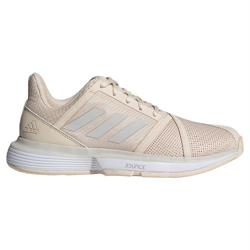 adidas Court Jam Bounce Womens Tennis Shoe - Linen/Grey One/White