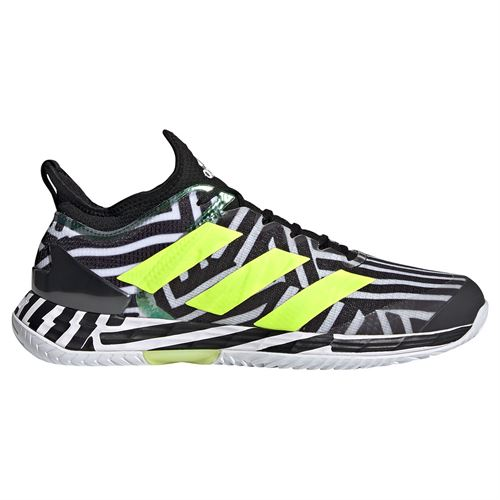 adidas Adizero Ubersonic 4 Mens Tennis Shoe Core Black/Solar Yellow/White G55454