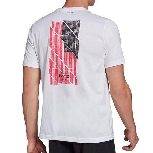 adidas US Open Tee Shirt Mens White GD9115