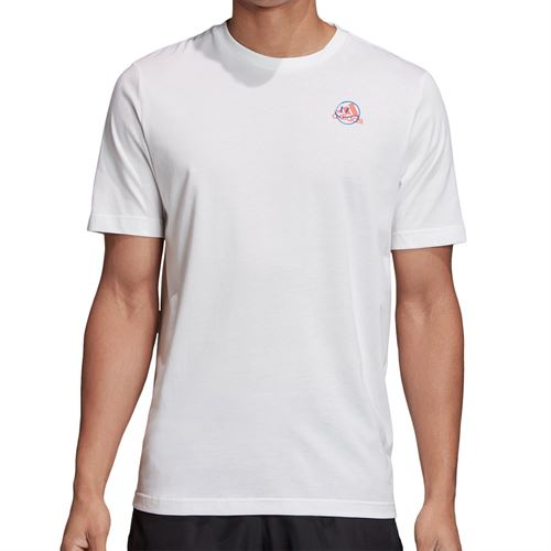 adidas Tennis Graphic Logo Tee Shirt Mens White GD9221