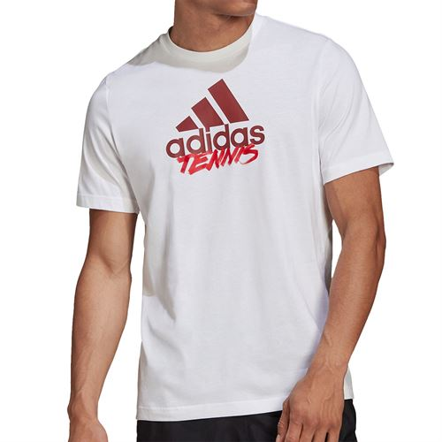 adidas Tennis Graphic Logo Tee Shirt Mens White GD9225