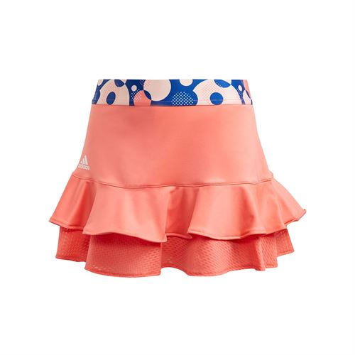 adidas Girls Frill Skirt Flash Red GE4817