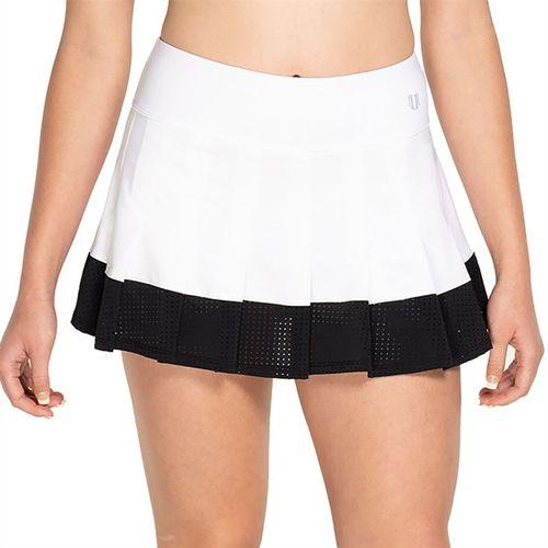 Eleven Geometric Flutter Skirt 13 inch Womens White GE5166 100