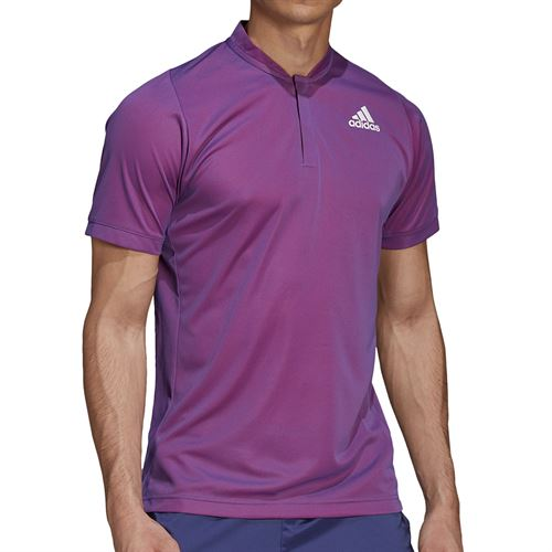 adidas Freelift Polo Shirt Mens Semi Night Flash/Scarlet GH7699