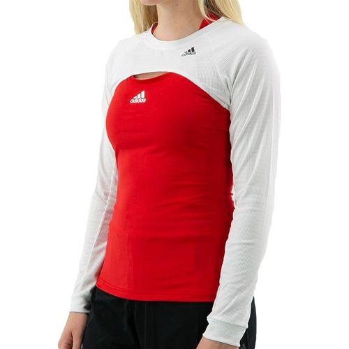 adidas Long Sleeve Shrug Top Womens White/Copper Metallic GF7893