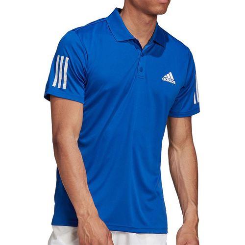 adidas 3-Stripes Club Polo Shirt Mens Team Royal Blue GI9291
