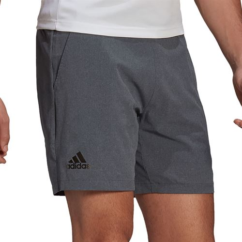 adidas Ergo 9 inch Short Mens Dark Grey Heather/White GL5398