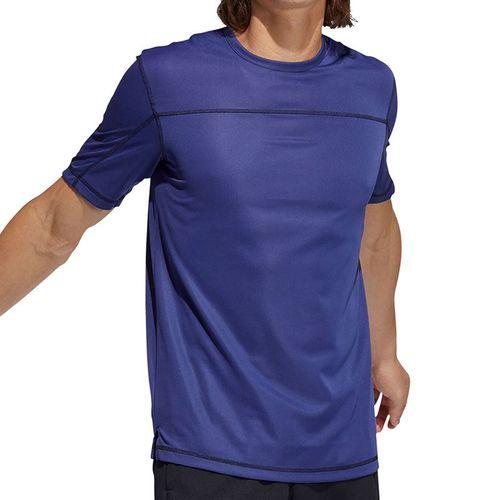 adidas Primeblue Tee Shirt Mens Semi Night Flash Melange GM0474