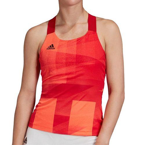 adidas Olympics Y Back Tank Womens Solar Red/Scarlet GM4498