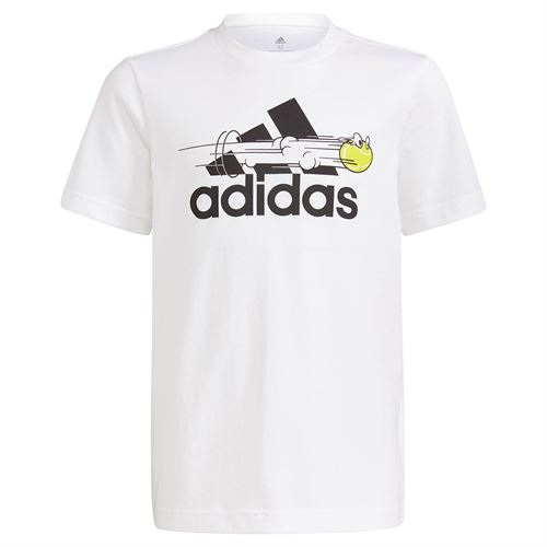adidas Boys Tee Shirt White GN8068