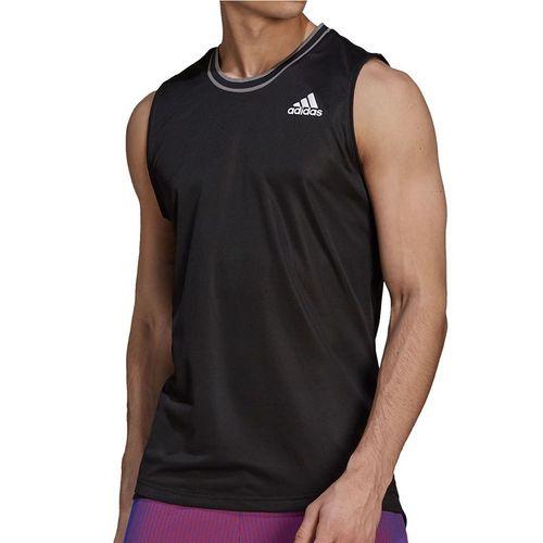 adidas Tennis Sleeveless Primeblue Shirt Mens Black GP7834