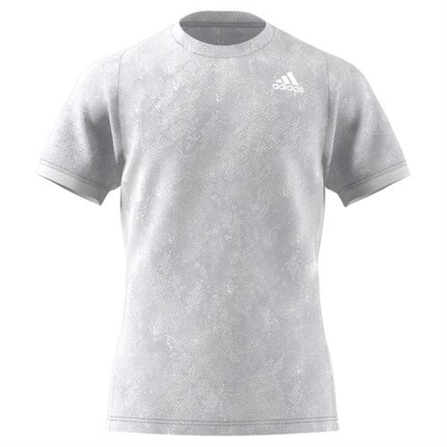adidas Freelift Tee Shirt Mens Grey Two/Crew Navy/White GQ2219