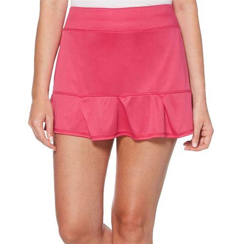 Grand Slam Tennis Solid Ruffle Pleat Skirt Womens Very Berry GSKBSA23 653