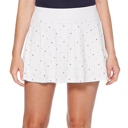 Grand Slam Tennis Fashion Skirt Womens Brilliant White/Tennis Ball Print GSKBSA28 110