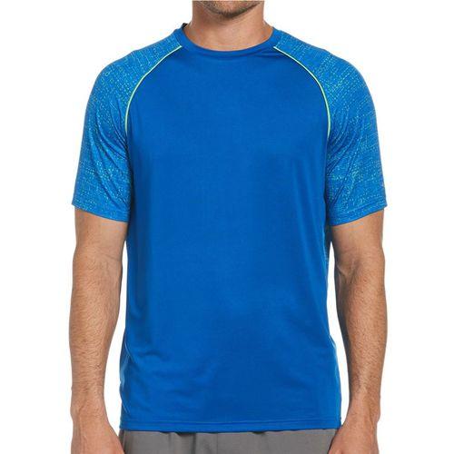 Grand Slam Raglan Printed Crew Shirt Mens Lapis Blue GSKFA001 415