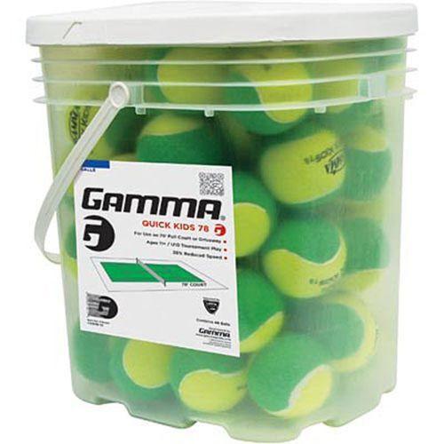 Gamma Quick Kids 78 Tennis Ball 48 Ball Bucket