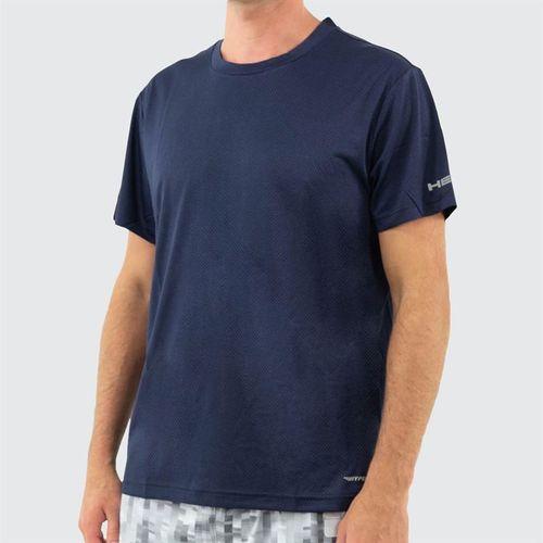 Head Short Sleeve Top Mens Navy Heather HEM173TS04 R136û