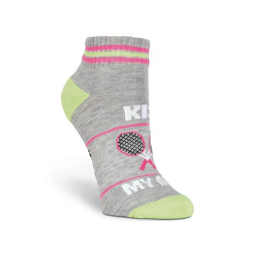K Bell Kiss My Ace Tennis Sock - Grey