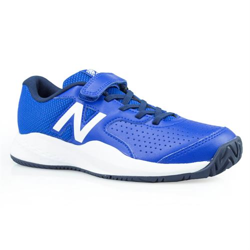 New Balance KC696BL3 Junior Tennis Shoe - Blue/White