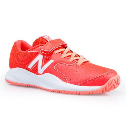 New Balance KC696PI3 Junior Tennis Shoe - Pink/White