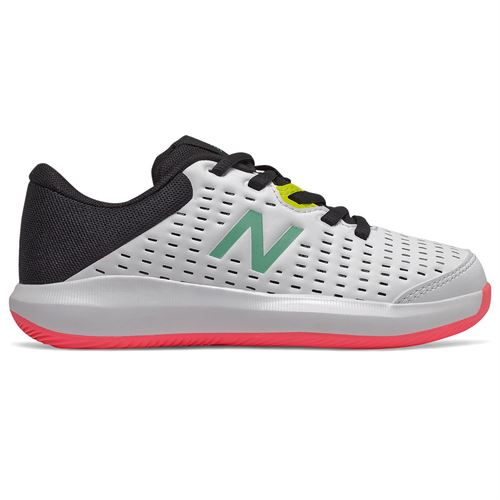 New Balance KC696TW4 Junior Tennis Shoe White/Black KC696TW4 M