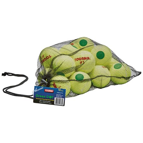 Tourna Green Dot Tennis Balls (18 pack)