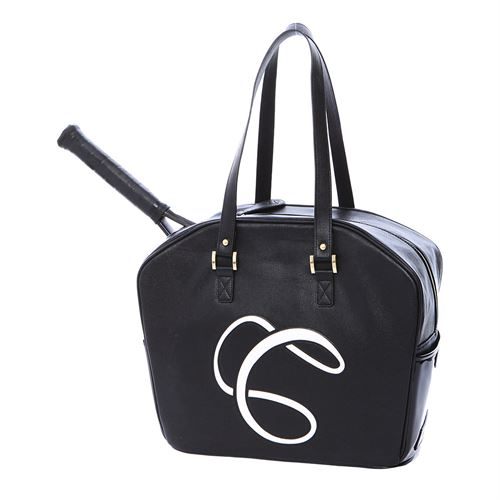 Cortiglia Logo Tennis Bag - Black