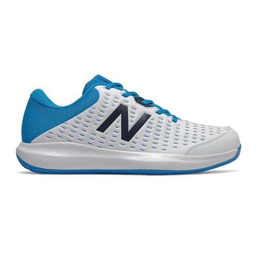 New Balance MCH696R4 Mens Tennis Shoe D Width White/Blue MCH696R4 D