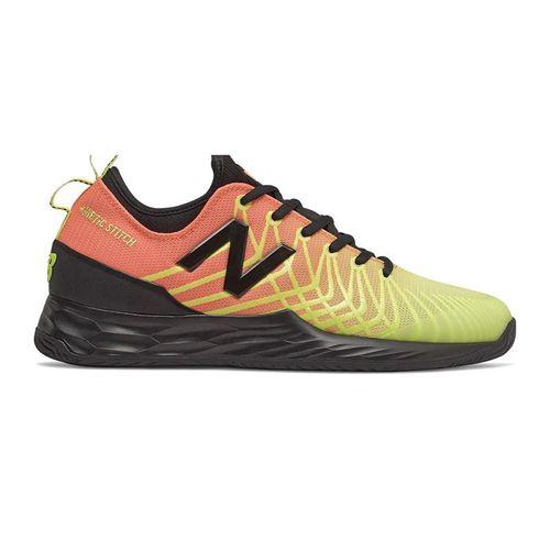 New Balance Freshfoam LAV MCHLAVMG Mens Tennis Shoe D Width Ginger Pink/Lemon Slush MCHLAVMG D