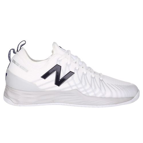 New Balance Fresh Foam MC LAV (2E) Mens Tennis Shoe - White/Navy
