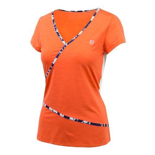 Eleven Monet Modern Wrap Top - Orange