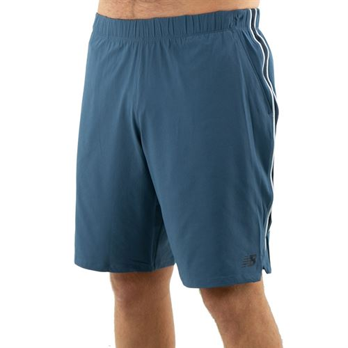 New Balance Rally Short 9 inch Mens Stone Blue MS01412 SNB